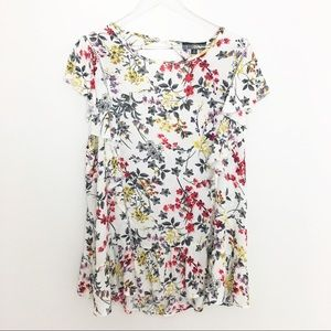 NWT 3X Suzanne Betro floral boho blouse top